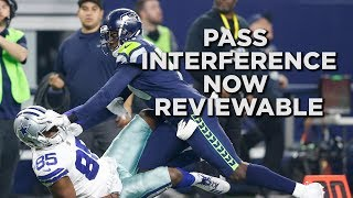 NFL: Pass interference will now be reviewable for the first time