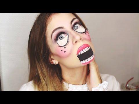 Simple halloween doll makeup bella f - Schminktipps mac ...