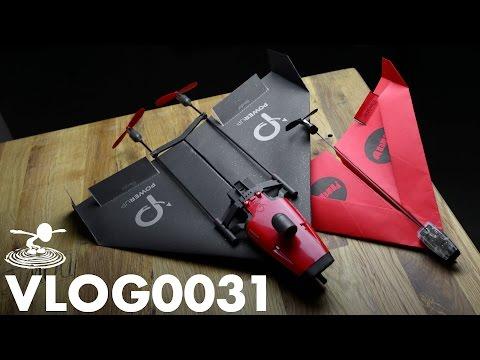 PAPER AIRPLANE DRONE - POWERUP FPV -  | VLOG0031 - UC9zTuyWffK9ckEz1216noAw