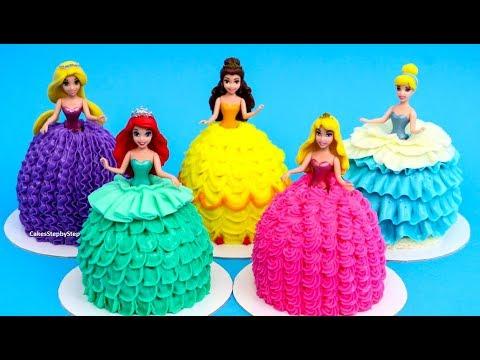 Disney PRINCESS MAGIC CLIP Dolls Cupcakes / Mini Cakes - How To Decorate - UCjA7GKp_yxbtw896DCpLHmQ