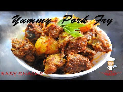 PORK FRY ( Nadan varapuza Style) - പോർക്ക് ഫ്രൈ ( നാടൻ  സ്റ്റൈൽ) | How To Cook/EPS;-82.