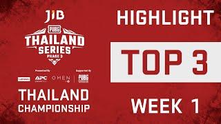 📣JIB PUBG Thailand Championship Highlight  Week 1 - TOP 3