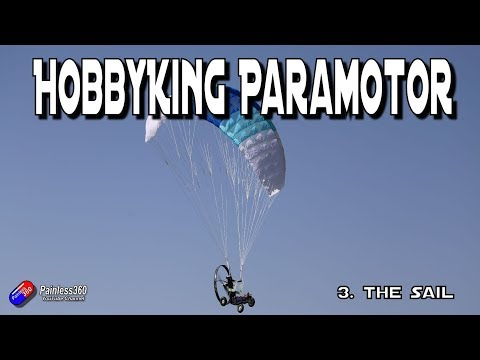 HobbyKing Paramotor Pt 3: Setting up and attaching the sail - UCp1vASX-fg959vRc1xowqpw