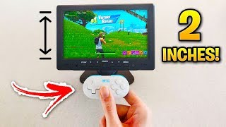 I Played Fortnite on the SMALLEST GAMING SETUP! (Small Controllers)