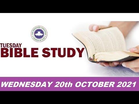 RCCG OCTOBER 20th 2021 BIBLE STUDY