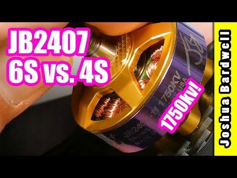 JB2407 Motor v2 | 6S 1750kv vs. 4S 2500kv - UCX3eufnI7A2I7IkKHZn8KSQ