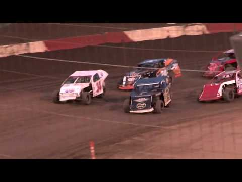 PERRIS AUTO SPEEDWAY 1-13-18 IMCA MODIFIED MAIN EVENT - dirt track racing video image