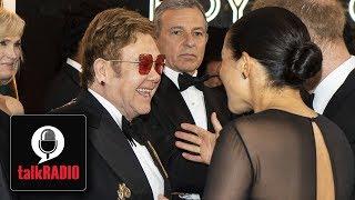Elton John defends Prince Harry & Meghan Markle over private flights