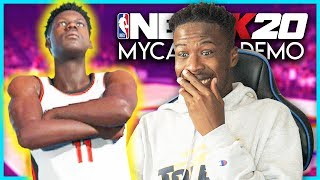 NBA 2K20 MyCAREER DEMO - CREATING MY PLAYER AND FIRST GAME!!!