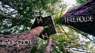 Climbing a 100ft Treehouse Hidden in the Woods