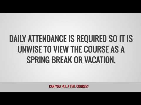 video on whether it is possible to fail a TEFL course or not