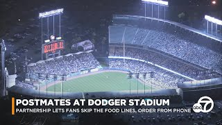 Dodgers, Postmates team up to help fans skip concession lines, order food from seat | ABC7