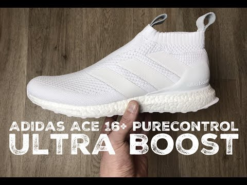 brand new 8bfbd e640e Adidas ACE 16+ Purecontrol Ultra Boost ˋTriple white´   UNBOXING   ON FEET    fashion shoes   17   HD