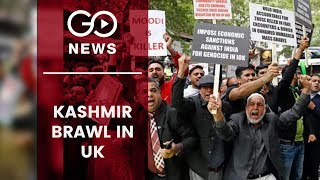 Clashes Over Kashmir Outside UK's Indian High Commission