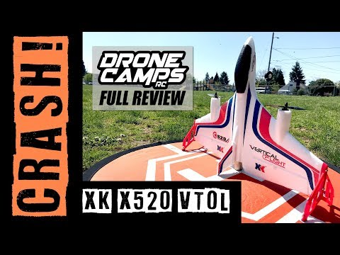 XK X520 - FAIL! WINDY CRASH ! - Brushless VTOL Vertical Takeoff Airplane Review - UCwojJxGQ0SNeVV09mKlnonA