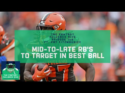 Mid-to-Late Round RBs to Target in 2020 Fantasy Best Ball | Fantasy Football Podcast