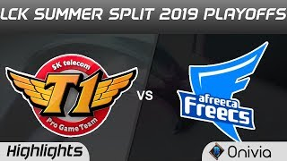 SKT vs AFS Highlights Game 1 LCK Summer 2019 Playoffs SK Telecom T1 vs Afreeca Freecs Highlights by