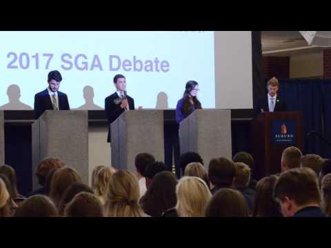 The Auburn SGA hosts Treasurer debates for the 2017 year on Monday, Feb. 6, 2017 in Auburn, Ala.