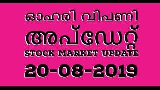Stock Market Update 20-8-2019/Malayalam/Nifty/Sensex/NSE/BSE/MS