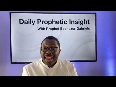 Prophetic Insight December 28th, 2020