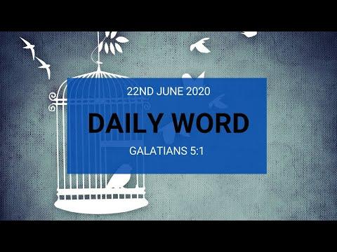 Daily Prophetic 22 June 2020 Galatians 5 1