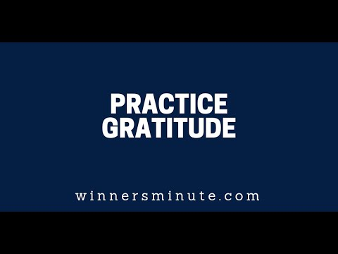 Practice Gratitude The Winner's Minute With Mac Hammond  The Winner's Minute With Mac Hammond