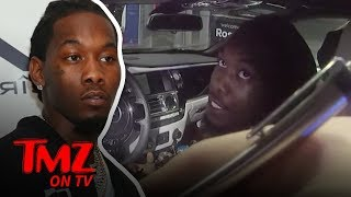 Offset Frustrated While Getting 3 Tickets During Traffic Stop | TMZ TV