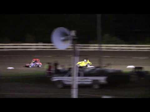 Feature Results:  1st) #85 Randy White 2nd) #8G Garrett Davenport (-0.536 secs) 3rd) #20 Colten McAndrew (-16.598 secs) 4th) #58 Logen Lockhart (-17.095 secs) 5th) #5 Grady Rinehart (-1 Lap) - dirt track racing video image