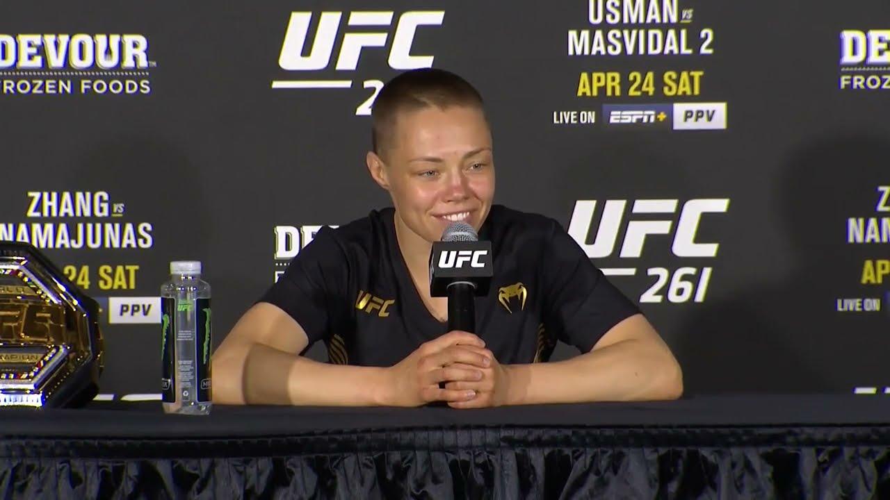 UFC 261: Rose Namajunas Post-fight Press Conference
