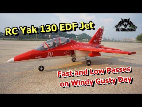 Yak 130 EDF RC Jet Fast Low Passes on Gusty Windy Day - UCsFctXdFnbeoKpLefdEloEQ