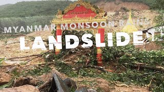 🌎🔁Very Large Landslide in #Myanmar Mon State