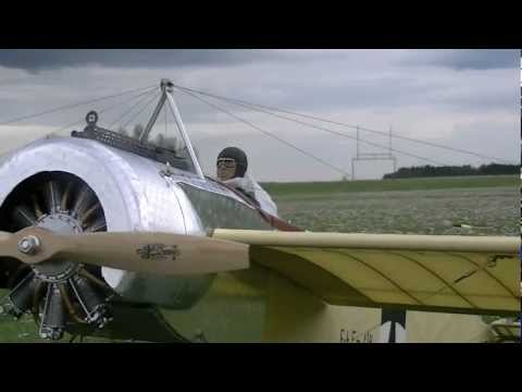 "Aerodrome R/C 66"" Eindecker With Wing Warping: Flight Test - And Crash! - UCqFj04rRJs6TJIwsVvCQK6A"