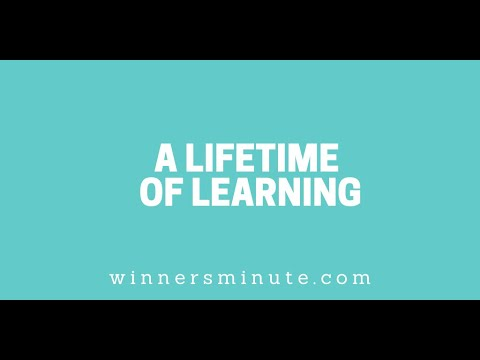 A Lifetime of Learning // The Winner's Minute With Mac Hammond