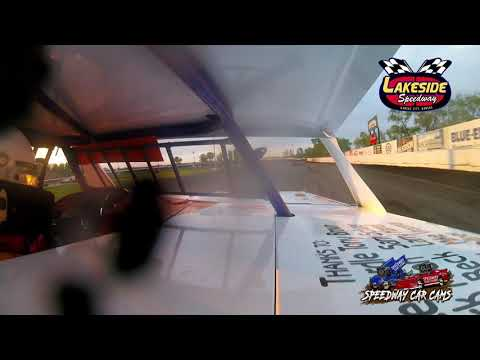 #5 Terry Bivens - USRA B Mod - 5-14-2021 Lakeside Speedway - In Car Camera - dirt track racing video image
