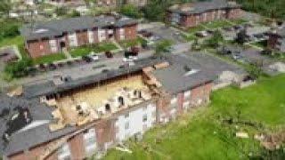 Roof shredded, woman describes surviving tornado