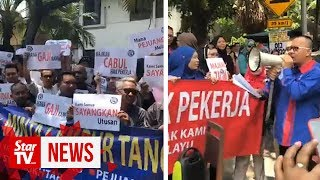 Utusan workers stage protest over unpaid wages