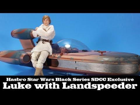 Star Wars Black Series Landspeeder with Luke Skywalker SDDC Exclusive Hasbro - UCF4CListjhpMJilZojUQVIA