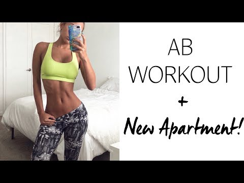 8 Minute Small Waist Workout   FIRST workout in NEW MIAMI BEACH APARTMENT - UCR117JPMLO3Y7J5mIblkBNg