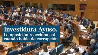 Así ha reaccionado la oposición cuando Ayuso ha hablado de corrupción