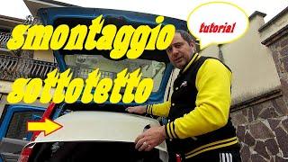 Smontare pannello cielo Fiat PANDA da 2003