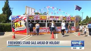 Fireworks stands gearing up for Fourth of July sales