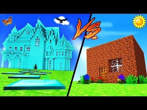 Minecraft - DIAMOND HOUSE VS DIRT HOUSE - default