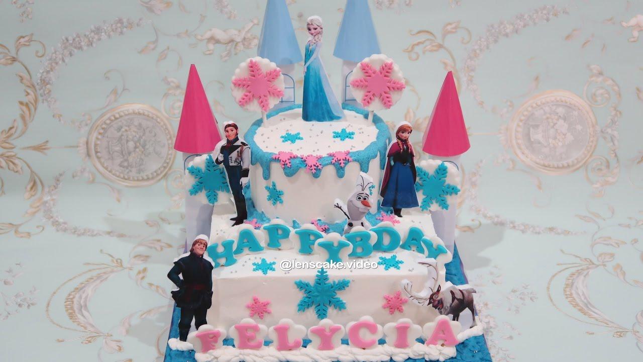 How To Make Birthday Cake Frozen Elsa Cara Membuat Kue