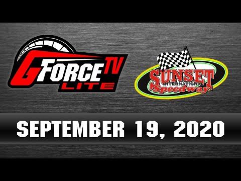 GForceTV Lite - OSCAAR from Sunset Speedway -  September 19, 2020 - dirt track racing video image
