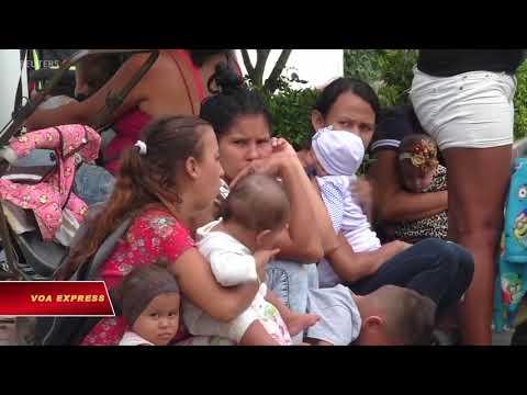 Dân Venezuela chờ viện trợ (VOA)