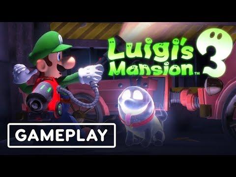 Luigi's Mansion 3: 10 Minutes of Haunted Castle Area Gameplay - E3 2019 - UCKy1dAqELo0zrOtPkf0eTMw