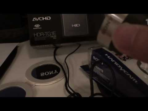 How To Improve Sony Handycam HDR TG1E/TG3/TG5/TG7- Wide Angle Demostration - Unboxing