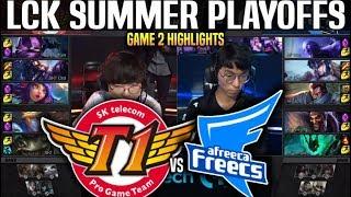 SKT vs AFS Game 2 Highlights LCK Summer Playoffs - SKT T1 vs AFREECA Game 2 Highlights LCK Summer