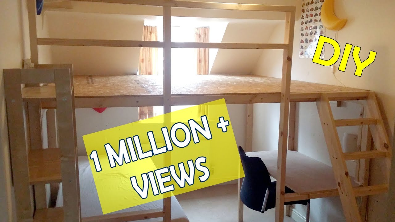 How To Make A Loft Bed Large Diy Loft Bed Wall To Wall 100