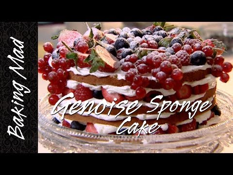 Baking Mad Monday: Genoise Sponge Cake with Summer Berries Recipe